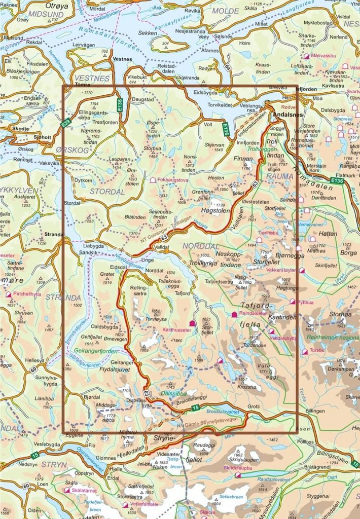 Nasjonal Turistveg Geiranger Trollstigen Kart Og Boker Til