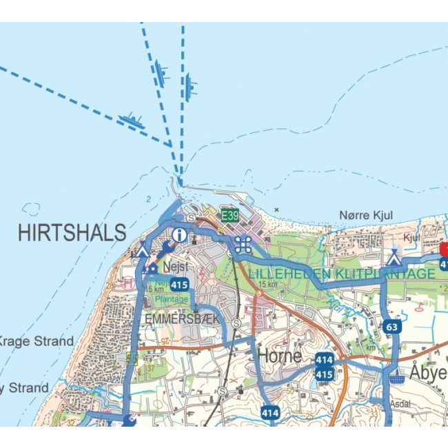 Sykkelkart Danmark Nord Jylland 5 8 Kart Og Boker Til Ferie Og