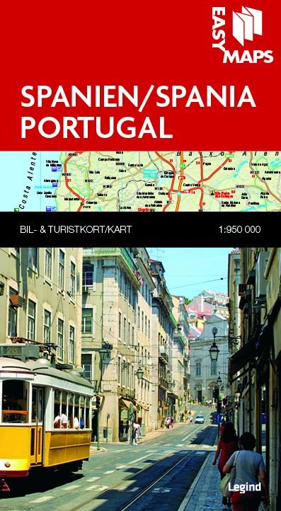 Kart Over Spania Og Portugal Fra Easy Maps Kart Og Boker Til